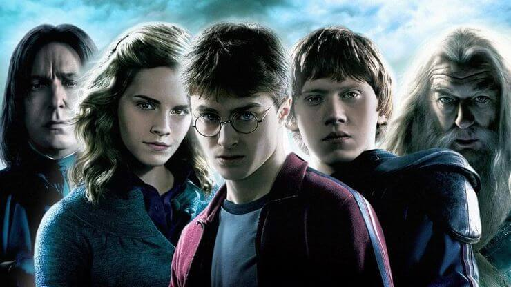 Os personagens do filme Harry Potter