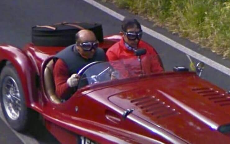 Fotos bizarras vistas no Google Street View
